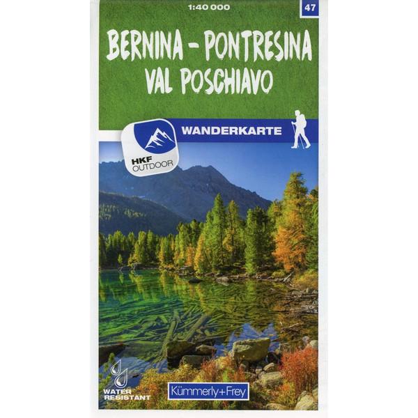 Bernina - Pontresina / Val Poschiavo 47 Wanderkarte 1:40 000 matt laminiert - Wanderkarte