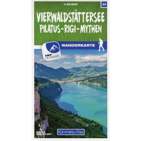 Vierwaldstättersee / Pilatus - Rigi - Mythen 20 Wanderkarte 1:40 000 matt laminiert - Wanderkarte