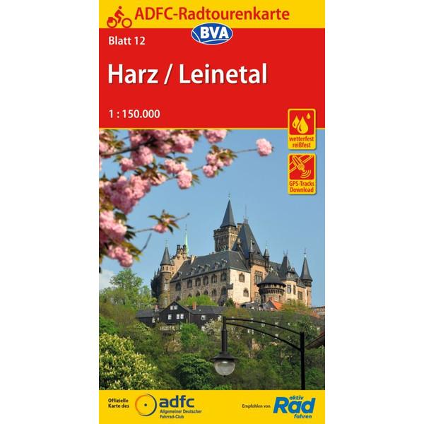 ADFC-RADTOURENKARTE 12 HARZ /LEINETAL 1:150.000, REIß- UND W - Reiseführer