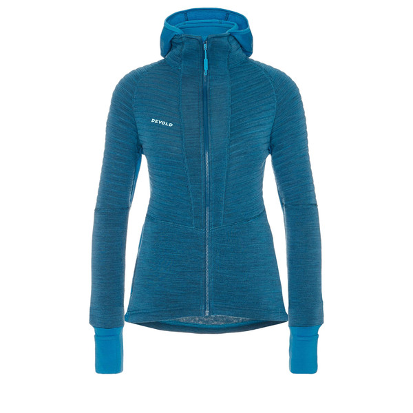 Devold TINDEN SPACER HOODED JACKET Frauen - Wolljacke