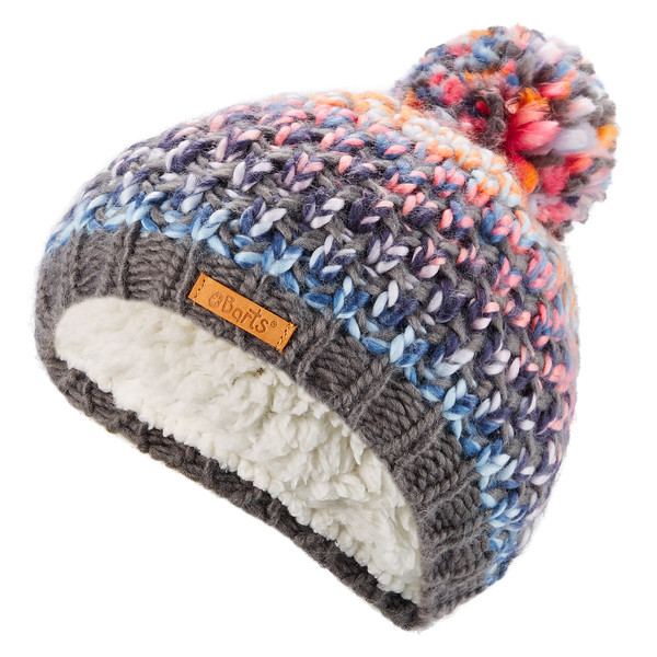 Barts NICOLE BEANIE GIRLS, DARK GREY, SIZE 53 Kinder - Mütze