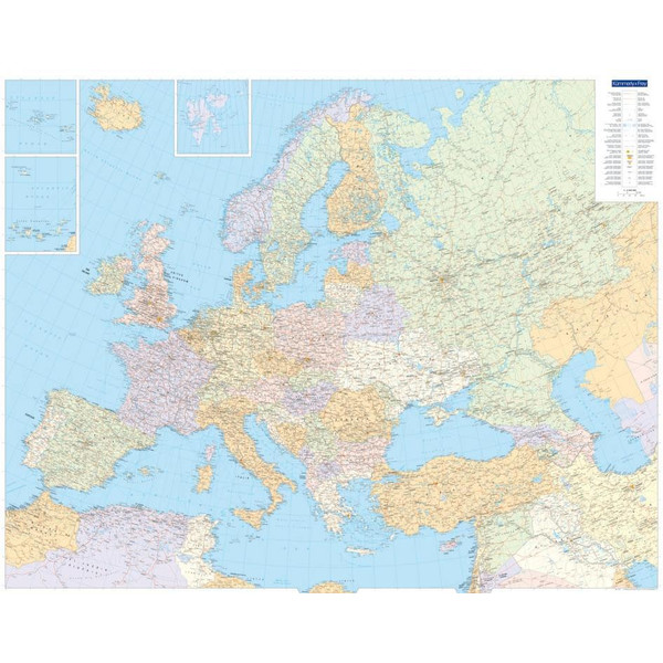 KuF Europa politisch 1 : 4 500 000. Poster - Poster