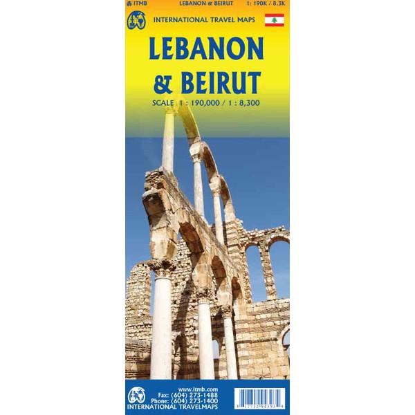 ITM Map Lebanon - Beirut 1:190 000 - Karte