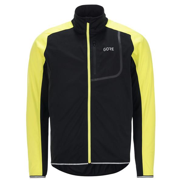 GORE Wear C3 Herren Jacke GORE WINDSTOPPER M Schwarz//Neon-Gelb