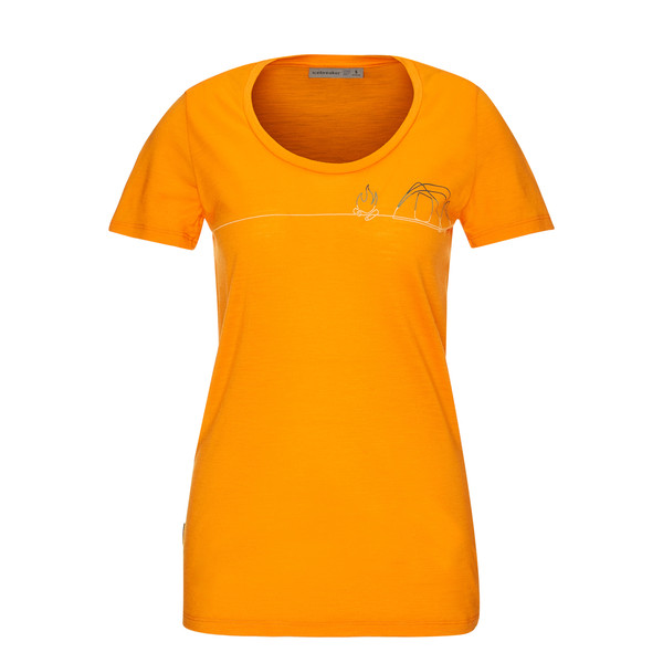 Icebreaker WMNS TECH LITE SS SCOOP SINGLE LINE CAMP Frauen - Funktionsshirt