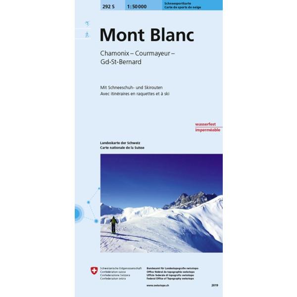 Swisstopo 1 : 50 000 Mont Blanc Carte de sports de neige - Winterwanderkarte