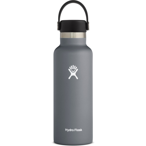 Hydro Flask 18 OZ STANDARD MOUTH WITH STANDARD FLEX CAP STONE - Trinkflasche