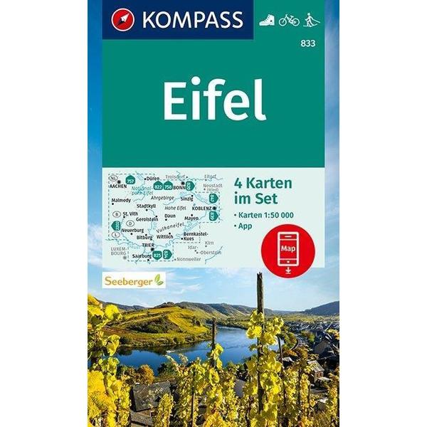 KOMPASS Wanderkarte Eifel 1:50 000 - Wanderkarte