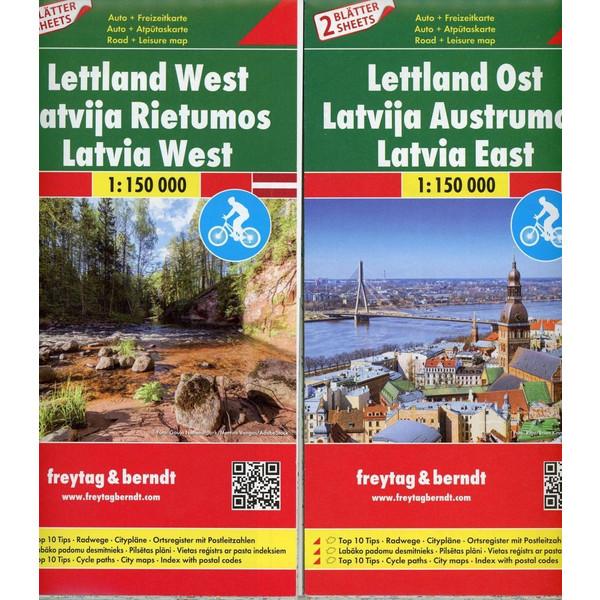 Lettland, Autokarten Set 1:150.000, Top 10 Tips - Straßenkarte