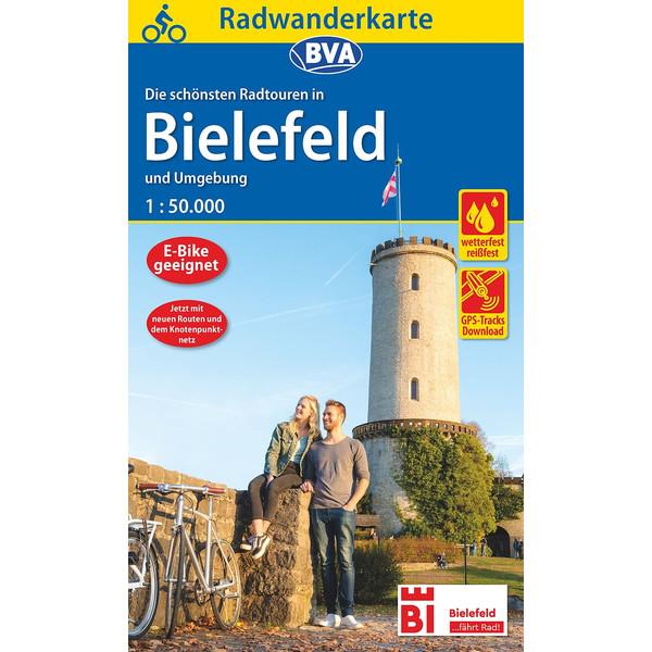 Radwanderkarte BVA Radwandern in Bielefeld und Umgebung - Fahrradkarte