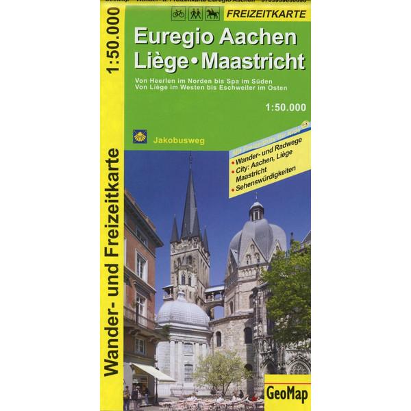 Euregio Aachen, Liege, Maastricht 1:50.000 Wander- und Freizeitkarte - Wanderkarte