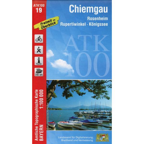 Chiemgau 1 : 100 000 - Wanderkarte