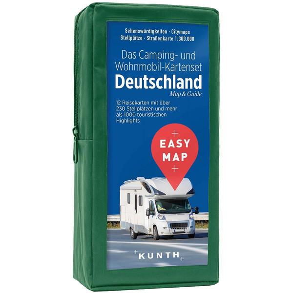 EASY MAP Das Camping- und Wohnmobil Kartenset Deutschland 1:300.000 - Straßenkarte
