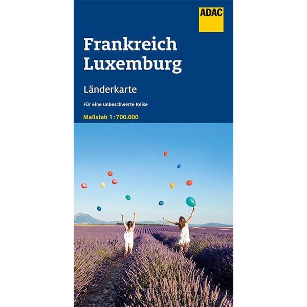 ADAC LÄNDERKARTE FRANKREICH, LUXEMBURG 1:700 000 - Straßenkarte