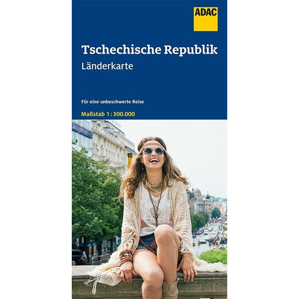 ADAC LÄNDERKARTE TSCHECHISCHE REPUBLIK 1:300 000 - Straßenkarte