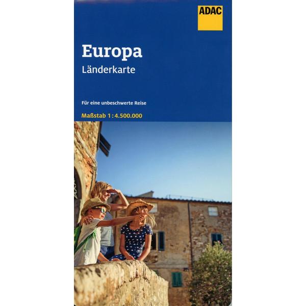 ADAC LÄNDERKARTE EUROPA 1:4 500 000 - Straßenkarte