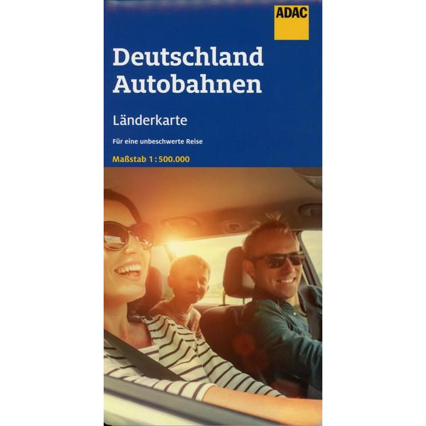 ADAC LÄNDERKARTE DEUTSCHLAND AUTOBAHNEN 1:500 000 - Straßenkarte