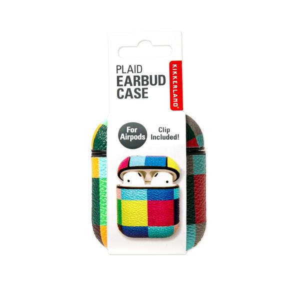 Kikkerland PLAID EARBUD CASE ASST - Etui