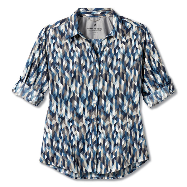 Royal Robbins EXPEDITION PRINT 3/4 SLEEVE Frauen - Outdoor Bluse