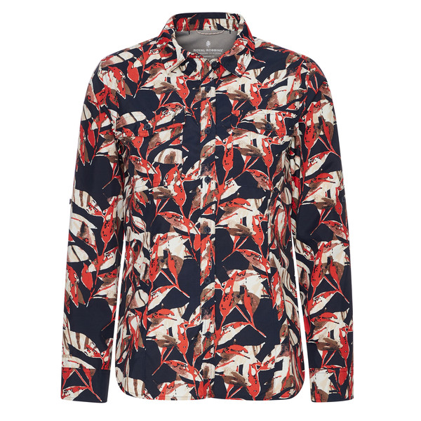 Royal Robbins BUG BARRIER EXPEDITION II L/S PRINT Frauen - Outdoor Bluse