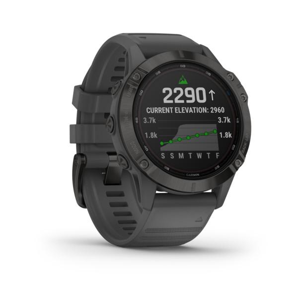Garmin FENIX 6 PRO SOLAR 47 MM GRAU/SCHWARZ Unisex - Smartwatch