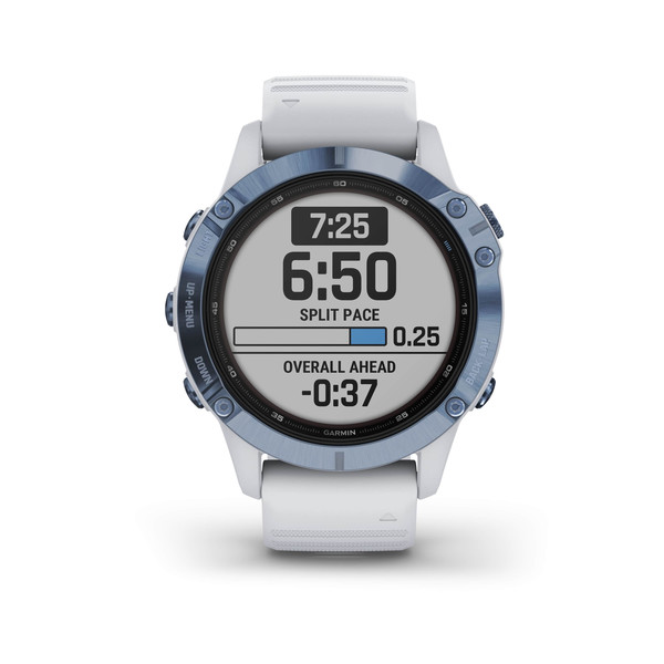 Garmin FENIX 6 PRO SOLAR TITAN 47 MM WEISS/BLAU - Smartwatch