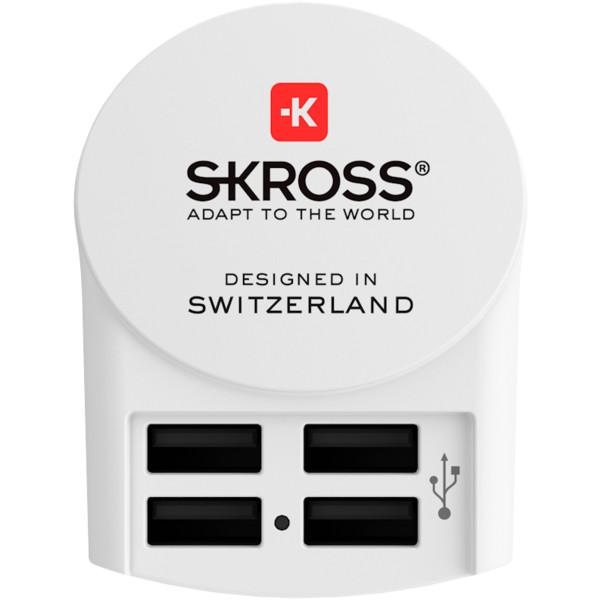 SKROSS EURO USB CHARGER 4A - Reisestecker