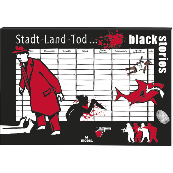 Moses Verlag BLACK STORIES - STADT LAND TOD Kinder - Reisespiele
