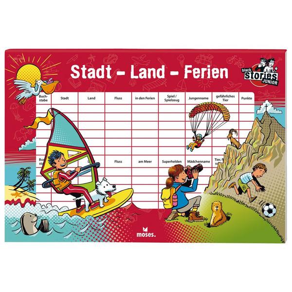 Moses Verlag BLACK STORIES JUNIOR STADT LAND FERIEN Kinder - Reisespiele