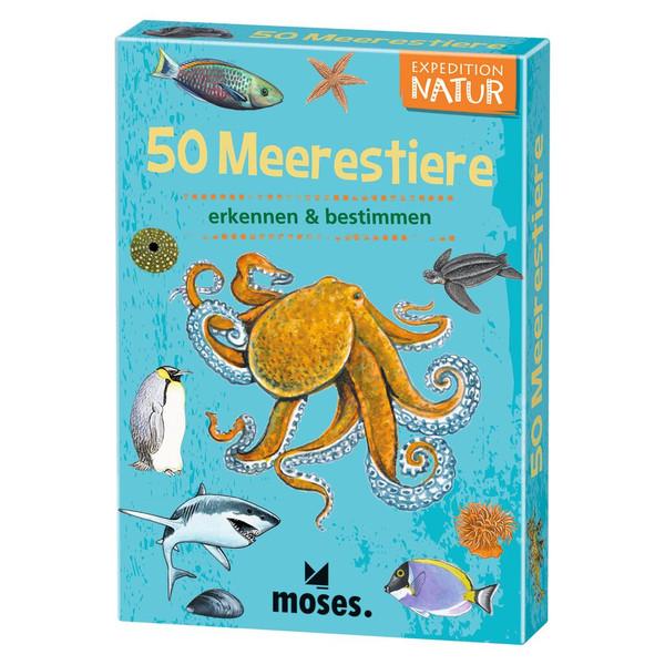 Moses Verlag EXPEDITION NATUR 50 MEERESTIERE Kinder - Reisespiele