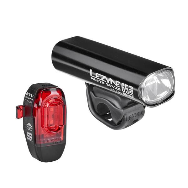 Lezyne BELEUCHTUNGSSET HECTO PRO 65 + KTV STVZO, Y13 Unisex - Fahrradbeleuchtung