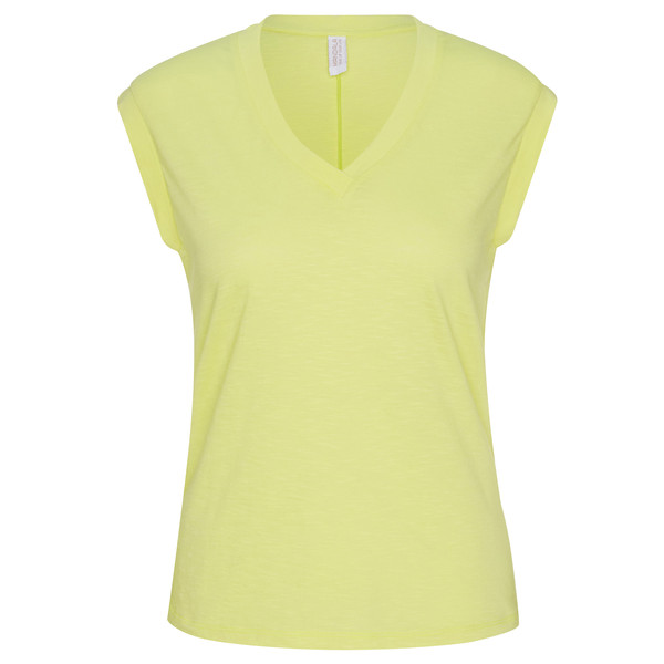 MANDALA RIBBED V-NECK Frauen - T-Shirt