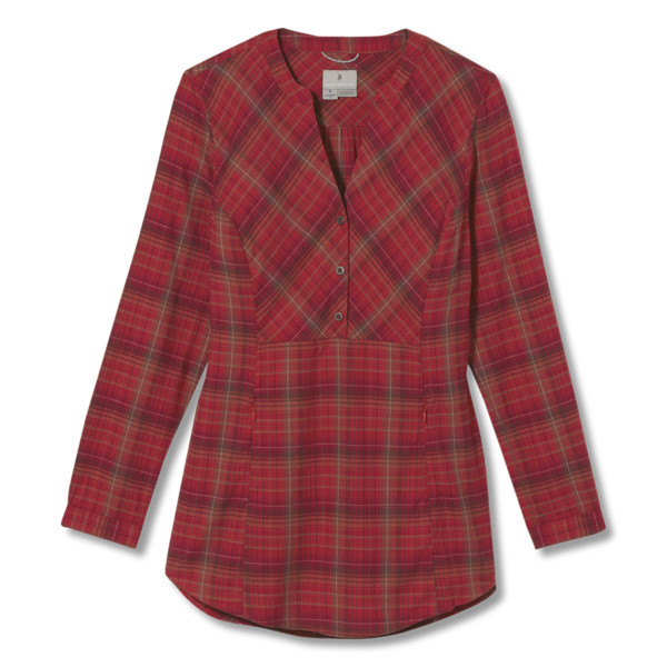 Royal Robbins DREAM TREKKER PULL OVER FLANNEL L/S Frauen - Outdoor Bluse