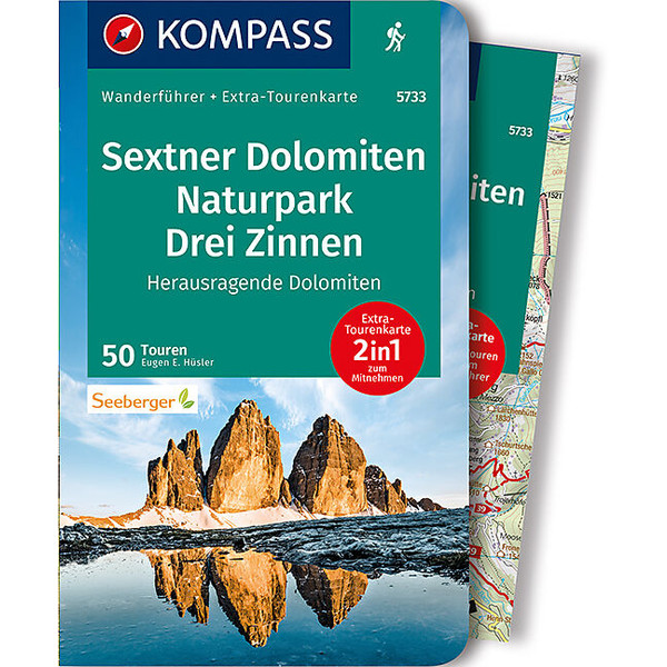KOMPASS WF SEXTNER DOLOMITEN, NATURPARK DREI ZINNEN - Wanderführer