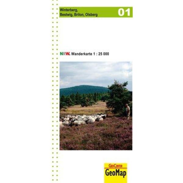 NORDRHEIN-WESTFALEN WANDERKARTE 01 WINTERBERG 1  : 25 000
