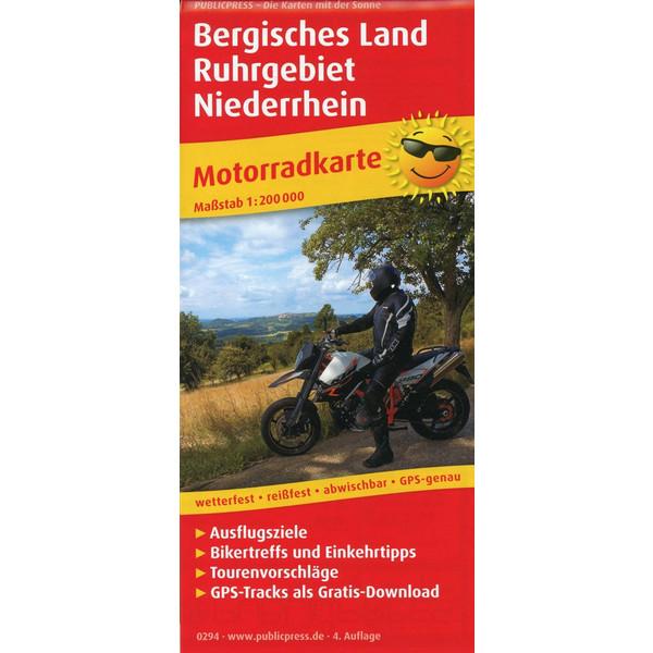BERGISCHES LAND - RUHRGEBIET - NIEDERRHEIN 1:200 000 - Straßenkarte