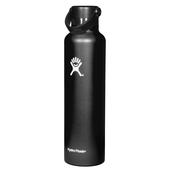 Hydro Flask 24 OZ STANDARD MOUTH WITH STANDARD FLEX CAP BLACK  - Trinkflasche