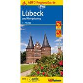 ADFC-Regionalkarte Lübeck und Umgebung  -
