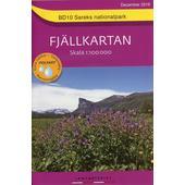 Fjällkartan 1 : 100 000 BD10 Sareks Nationalpark Bergwanderkarte  - Wanderkarte