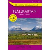 Fjällkartan BD6 Abisko - Kebnekaise - Narvik Bergwanderkarte  - Wanderkarte