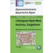 DAV Alpenvereinskarte Bayerische Alpen 17. Chiemgauer Alpen West 1 : 25 000  - Wanderkarte