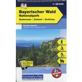 KuF Deutschland Outdoorkarte 54 Nationalpark Bayerischer Wald 1 : 35 000  - Wanderkarte