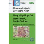 DAV Alpenvereinskarte Bayerische Alpen 16 Mangfallgebirge Ost 1 : 25 000. Wendelstein, Großer Traithen  - Wanderkarte