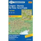 Wanderkarte 69 Livigno - Bormio - Val Viola - Val di Fraele 1:25 000  - Wanderkarte