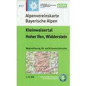 BY 2 Kleinwalsertal, Hoher Ifen, Widderstein,  - Wanderkarte