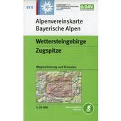DAV Alpenvereinskarte Bayerische Alpen 08. Wettersteingebirge, Zugspitze 1 : 25 000  - Wanderkarte
