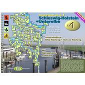 TOURENATLAS TA1 WASSERWANDERN 01 SCHLESWIG-HOLSTEIN  - Gewässerführer