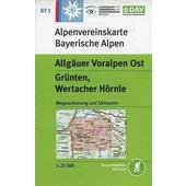 DAV Alpenvereinskarte Bayerische Alpen 03. Allgäuer Voralpen Ost 1 : 25.000  - Wanderkarte
