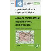 DAV Alpenvereinskarte Bayerische Alpen 01. Allgäuer Voralpen West, Nagelfluhkette, Hörnergruppe 1 : 25 000  - Wanderkarte