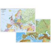 EUROPA PHYSISCH / POLITISCH. DUO-SCHREIB  - Karte